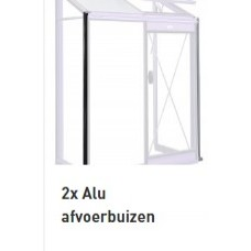 ACD  2 aluminium waterafvoerbuizen RAL 9005