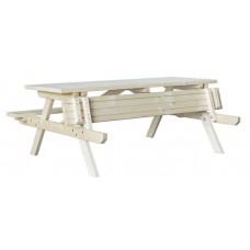Steigerhouten picknicktafel Vasa