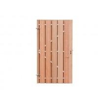 Carlos, deur met stalen frame, hardhout