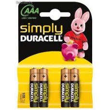 Duracell batt AAA kaart a 4 stuks