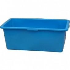 Rechthoek kuip 90 liter blauw