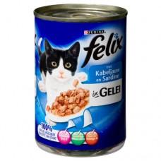 Felix Blik gelei kabeljauw/sardines 12 x 400 gr