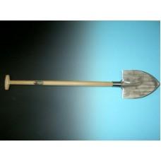 Barnevelder gesmede spade met schopsteel gebogen