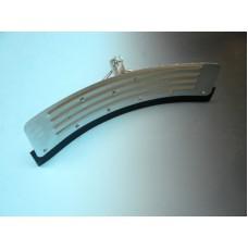 Mestschuiver gebogen 58 cm Verzinkt + steel