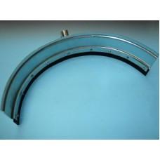Mestschuiver gebogen PROLINE 89 cm + steel
