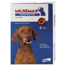 Milbemax Kauwtablet hond vanaf 5kg 28 g 4 stuks Kip